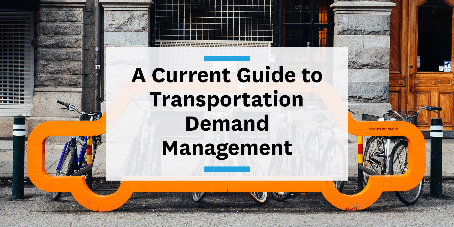 Feature image for the current guide to transportation demand management