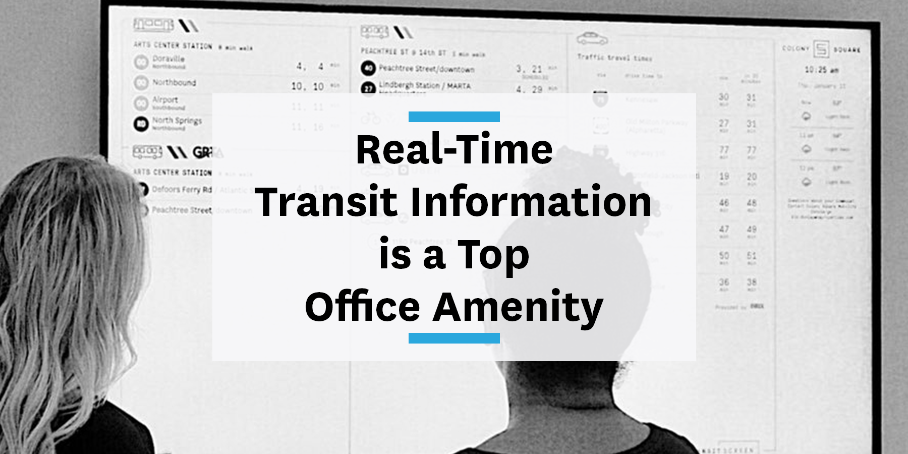 Feature image for real-time transit information being a top office amenity