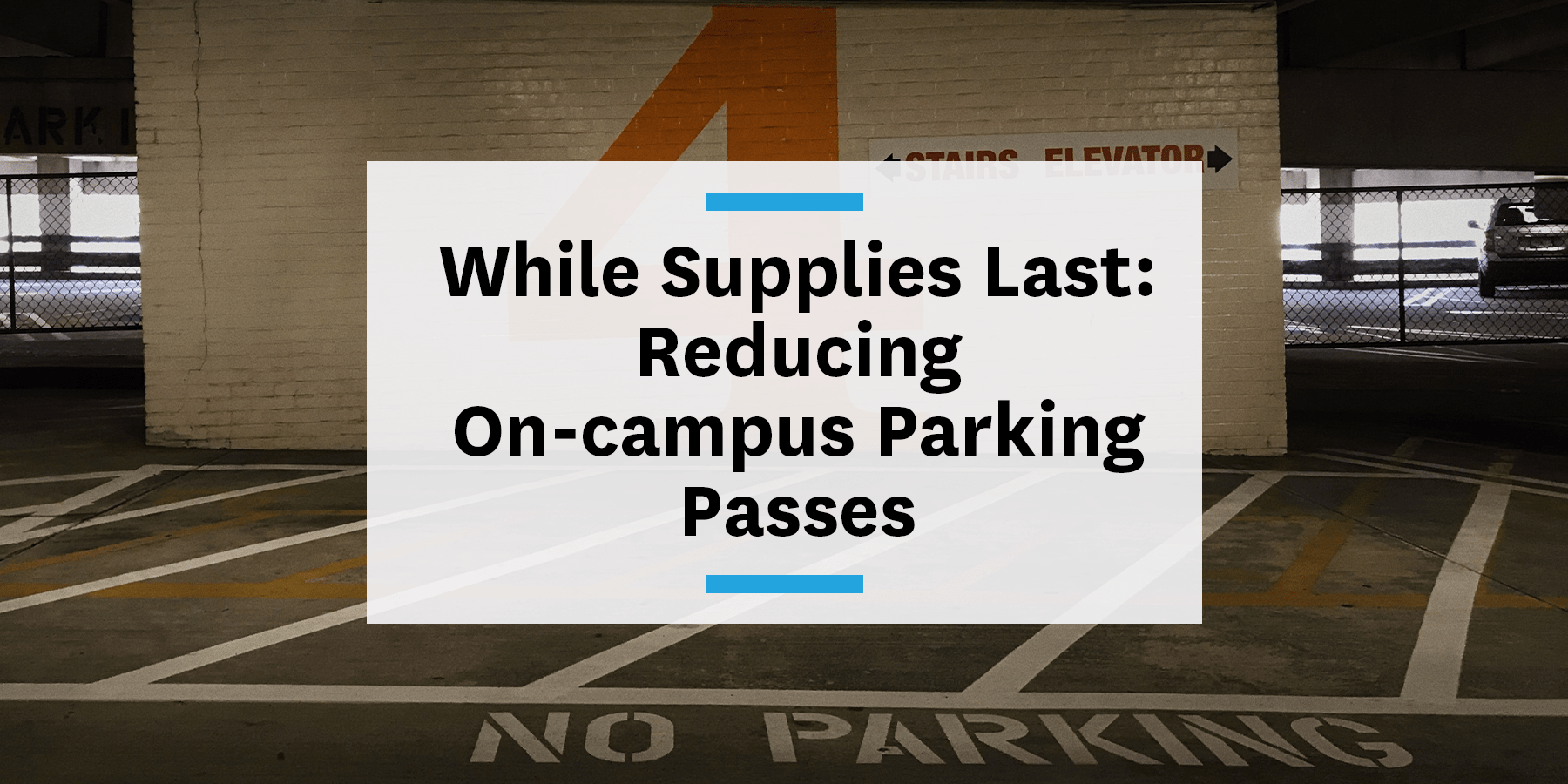 Feature image for reducing on-campus parking passes