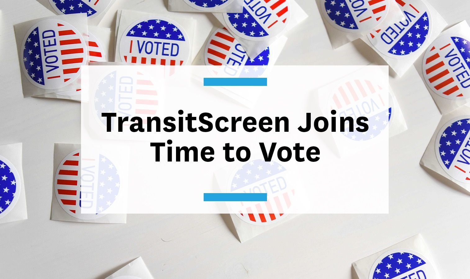 Feature image for TransitScreen joins Time to Vote