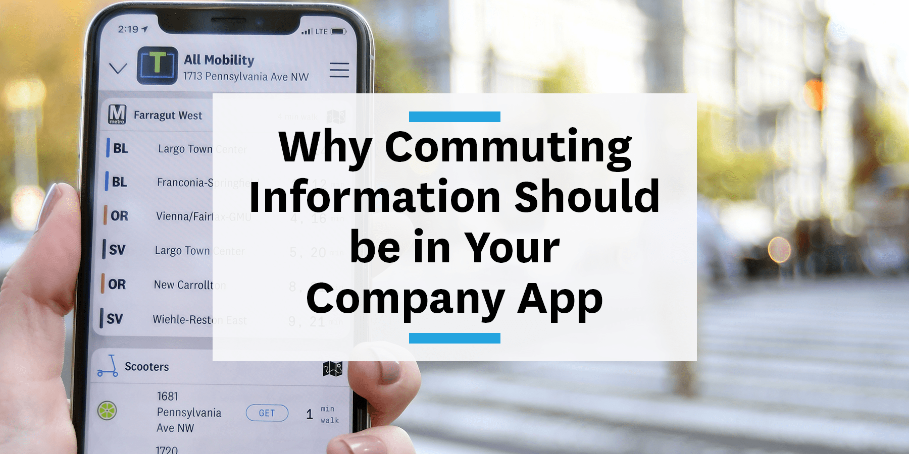 Feature image for including commuting information in your company app