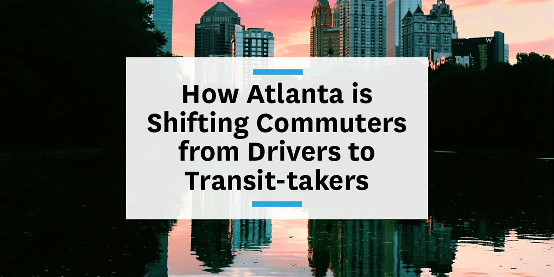 Feature image for transportation demand management Atlanta