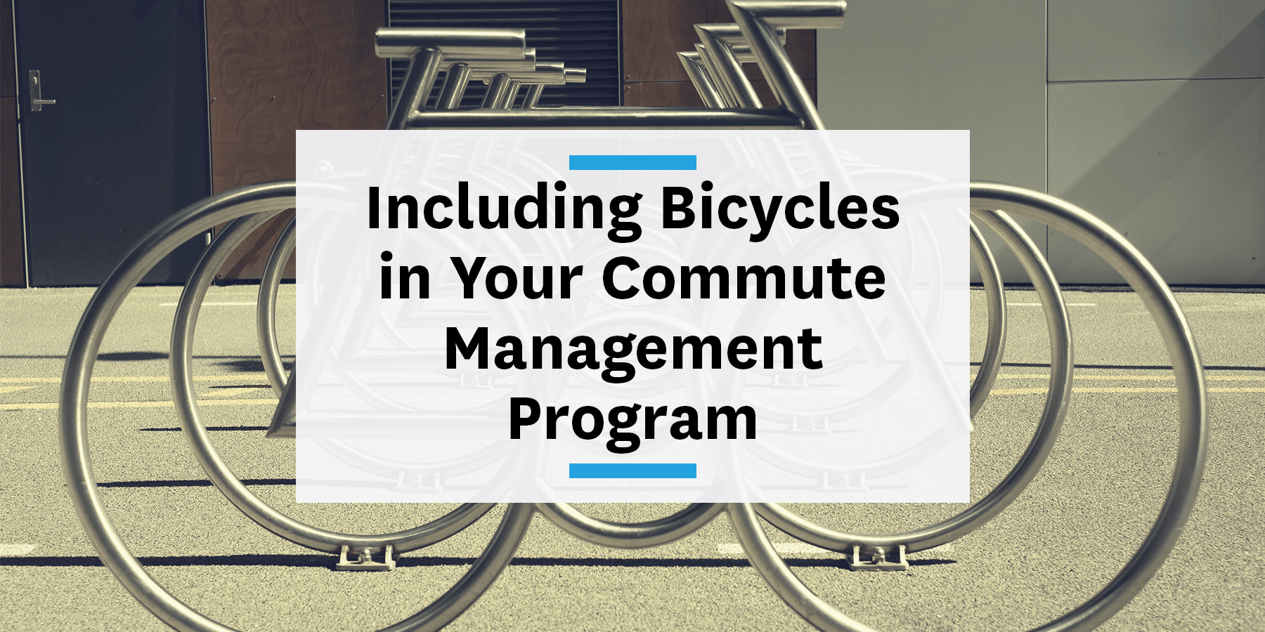 Including bicycles in your commute management program