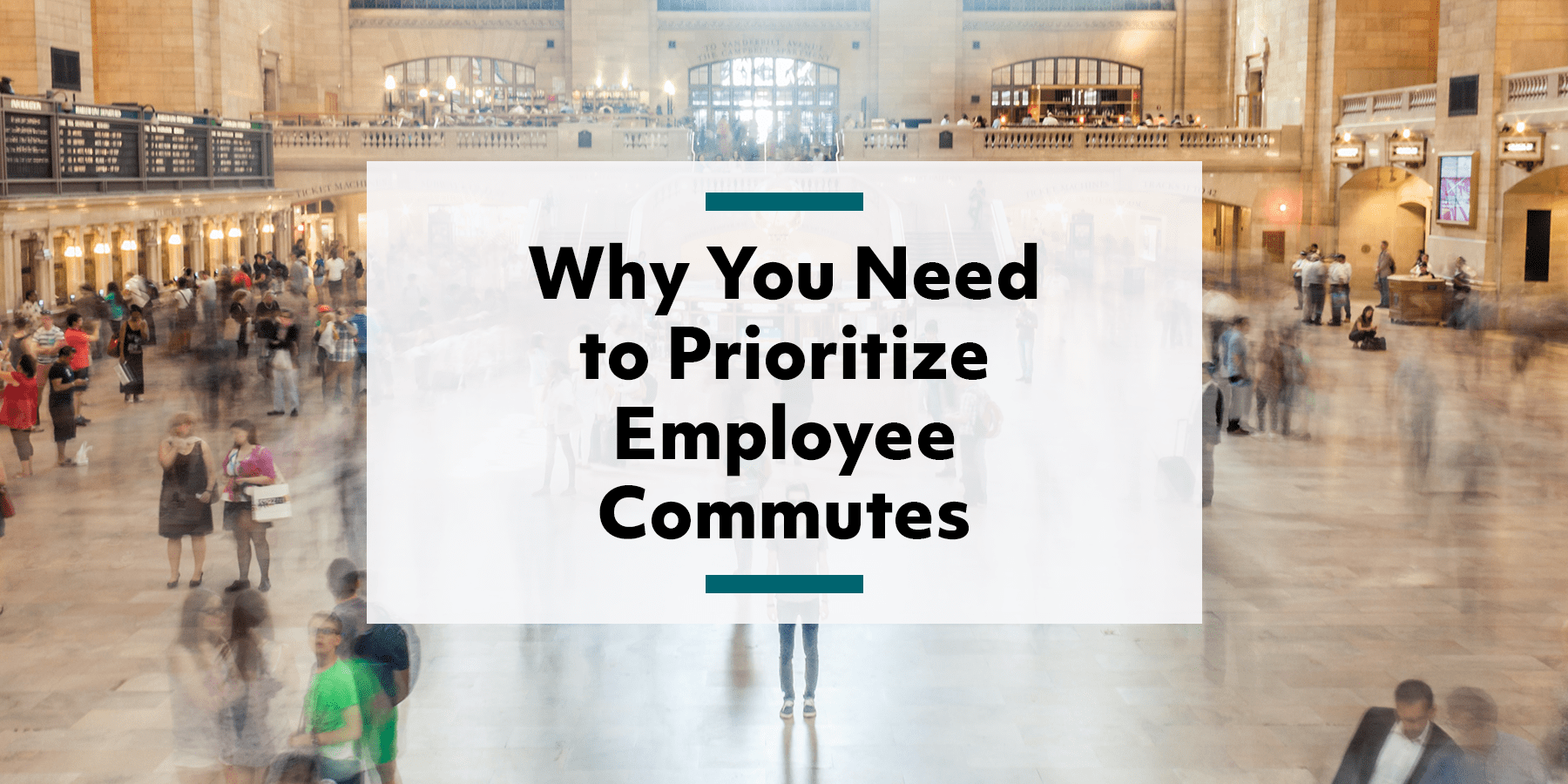 Feature image for why you need to make employee commutes a priority